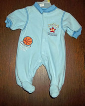 Preemie Boys Basketball Footed Sleeper - $13.00