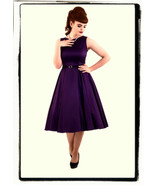 1X 16 46 RETRO PURPLE 50s VTG PINUP HEPBURN ROCKABILLY COUTURE SWING DAY... - $52.00