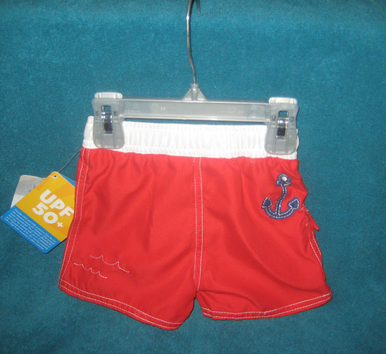 71071302d Disney Mickey Mouse Captain Baby Boy Swim Shorts Trunks 3 to 6 months. New.