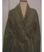 100″ VARIOUS SHADES OF GREEN SILK TAFFETA SMALL STRIPES FABRIC DRESS/HOME #BP46 - $70.00