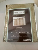 "NEW Allen + Roth Bannerton Rod Pocket Panel Curtain Sage Green 40"" x 84"" - $9.89"