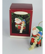 Hallmark 1995 Dream On Ornament  Santa & Child with List 28803 - $17.81