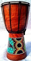 World Playground 30cm Djembe Drum with Hand Painted Design - West Africa... - $50.04