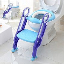 Makone Potty Trainer Seat Adjustable Baby Potty Toilet Ladder Seat with ... - $41.85