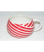 STARBUCKS COFFEE 2013 RED CANDY CANE CERAMIC CHRISTMAS 12 oz COFFEE MUG EUC - $10.99