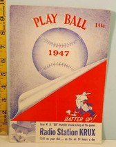 1947 New York Giants Baseball Spring Training Program vs White Sox Ott, ... - $44.55