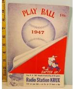 1947 New York Giants Baseball Spring Training Program vs White Sox Ott, ... - $44.55