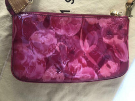 Auth Louis Vuitton Ikat Floral Pink Rose Indian Fuschia Pochette Shoulde... - $999.99