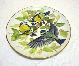 "Vintage Songbird Plate, Blue Titmouse, ""Blaumeise"" by Ursula Band 1985 f... - £20.33 GBP"