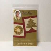 "Holiday Wreath and Tree Quilt Pattern Eleanor Burns Quilt in a Day 23"" sq - $11.64"