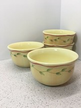 """Pfaltzgraff Napoli Pattern Set Of 4 Soup, Cereal Bowls 6"""" Wide X 3 3/8"""" Tall - $15.84"""