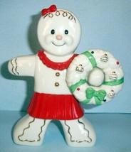"Lenox Gingerbread Christmas Girl Figurine with Wreath 7.25""H #849926 New... - £37.51 GBP"