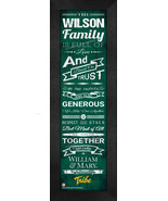 "Personalized College of William & Mary ""Tribe"" 24 x 8 Family Cheer Frame... - $39.95"