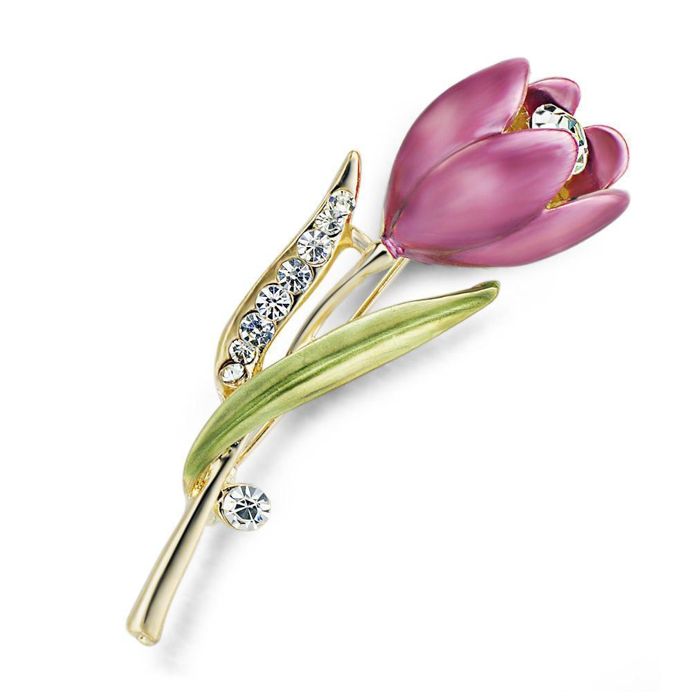 Primary image for Womens Elegant Tulip Flower Brooch Pin