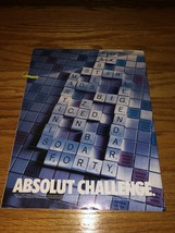 Absolut Challenge Original Magazine Ad - $2.99