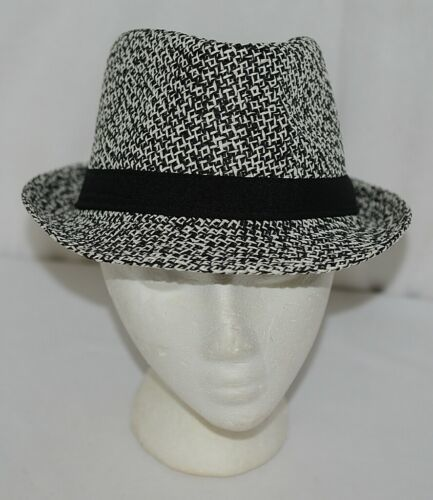 Howards Brand Arianna Collection 89005 Black White Men's Tweed Fedora Hat