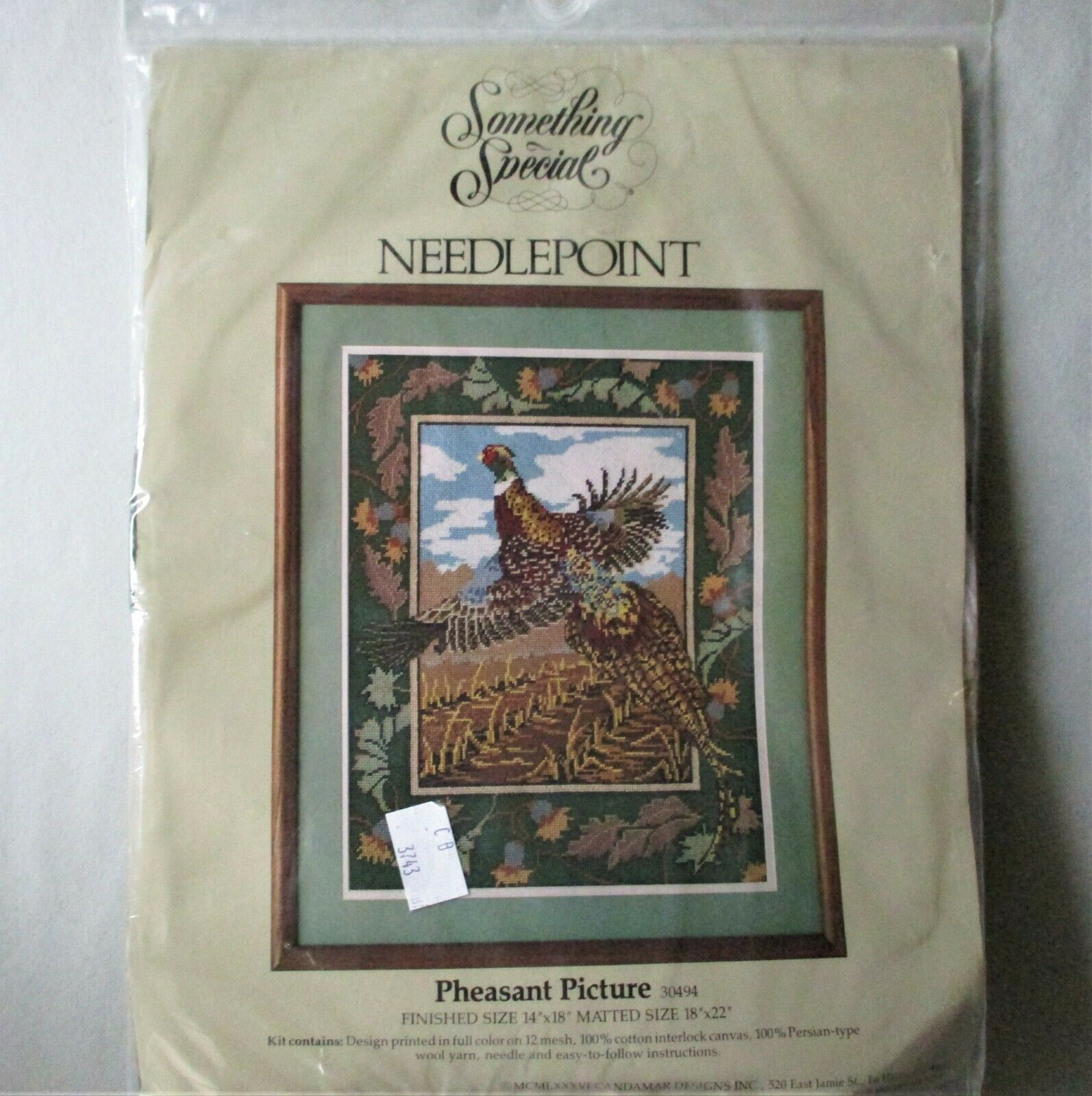 Vintage Something Special Pheasant Needlepoint kit by Candamar Designs - $19.75