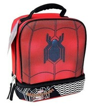 SPIDER-MAN HOMECOMING Dual-Chamber Lead-Safe Insulated Lunch Tote Box NWT - $18.01