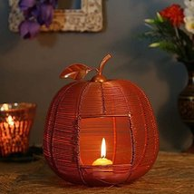 COPPER APPLE CLASSIC CANDLE HOLDERHAND CUT INDIAN DECORATIVE WEDDING GIF... - $65.34
