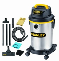 Small Wet Dry Vacuum Cleaner Stainless Steel Stanley 4 Gallons FAST DELI... - $87.01