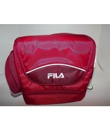 Fila Refuel Red Lunch Bag 3 Pockets Wide Adjustable Strap Insulated Lining  - $14.48