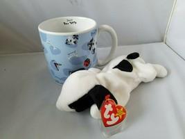 Disney World 1001 Dalmatians Coffee Mug Large Dog Cup & Ty Beanie Baby Spot - $31.38