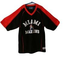 True Fan MLB Miami Marlins Baseball Men's Embroidered Orange, Black L Jersey - $28.03