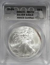 2009 Silver Eagle ANACS MS70 Coin AI141 - $62.79