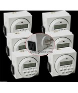 Lot (6)7 Day Dual Outlet Switch Digital Electric Light Timer 15A 1725W U... - $49.99