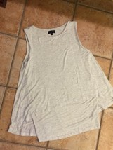 THE LIMITED IVORY GREY MARLED BLOUSE LAYERED ASYMMETRICAL TOP WOMENS S LN - $15.26