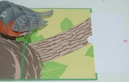 Lovepop LP1791 Robin Pop Up Card Slide Out Note White Envelope Cellophane Wrap image 4