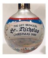 hallmark the Gift Bringers St.Nicholas Glass Ornament 1989 keepsake orna... - $7.92