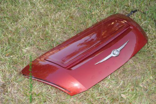 Chrysler Crossfire Convertible Rear Trunk Deck Panel Lid W/ Active Spoiler