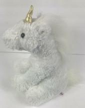 """Aurora White Unicorn 12"""" Plush Gold Horn - $19.79"""