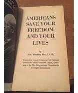 Americans by Hon. Hamilton Fish, L.L.D vmh228 - $7.85
