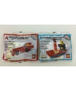 McDonalds Lego Happy Meal Building Sets 2pc Lot Car and Boat A B Vintage 1986 - $21.73