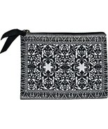 "Onyx Print Credit Card Purse Zipper Closure New Derin 5"" x 4"" Fabric Fas... - €7,28 EUR"
