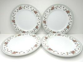 "4 Sheffield Anniversary Porcelain Fine China 10 1/4"" Floral Dinner Plates Japan - $22.64"