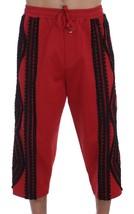 New $660 Dolce & Gabbana Men Red Black Torero 3/4 Pants Shorts It46-S - $210.77