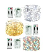 LED Fairy string Light Decoration Battery(3AA)With remote (8 modes) 33FT... - $8.99