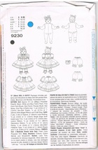 Vogue 8722 Craft Pattern for Doll and Outfit by Linda Carr Design - $9.95