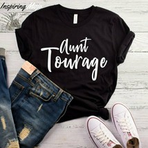 Aunt Tourage T-Shirt, Aunt Clothing T Shirt, Auntie Gift Tee Shirt, Gift... - $19.75+