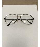 VTG St. Moritz Flex Frame Black & Gold Aviator Glasses Demo Lenses 62-18... - $30.00