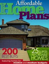 Affordable Home Plans: 200 Best Buys 25 Super Affordable Homes Sunset Books - $8.29