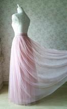 A-line Long Tulle Skirt Pink Long Tulle Skirt Wedding Tulle Skirt image 6