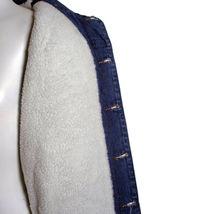 Junior Kids Boy's Premium Button Up Denim Fur Lined Trucker Sherpa Jean Jacket image 4