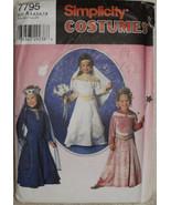 Simplicity 7795 Girl Halloween Medieval Renaissance Dress Costume Prince... - $10.00
