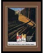 1968 Marlboro Country Cigarettes 11x14 Framed ORIGINAL Vintage Advertise... - $41.71