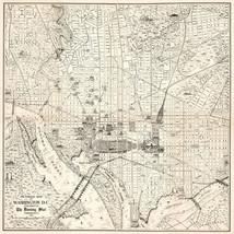 1915 Washington DC Map Office Home School Wall Art Decor Poster Vintage ... - $12.38