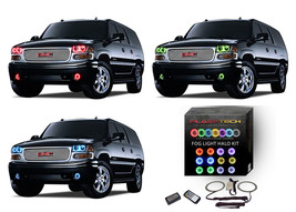 for GMC Yukon 01-06 RGB Multi Color M7 LED Halo kit for Fog Lights - $99.79